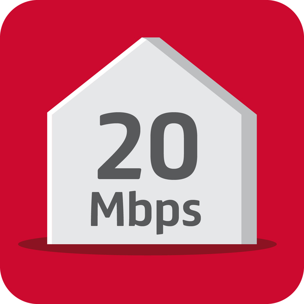 Superfast 20 Mbps (250 GB)